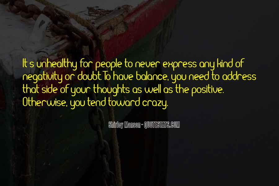 Say No To Negativity Quotes #52534
