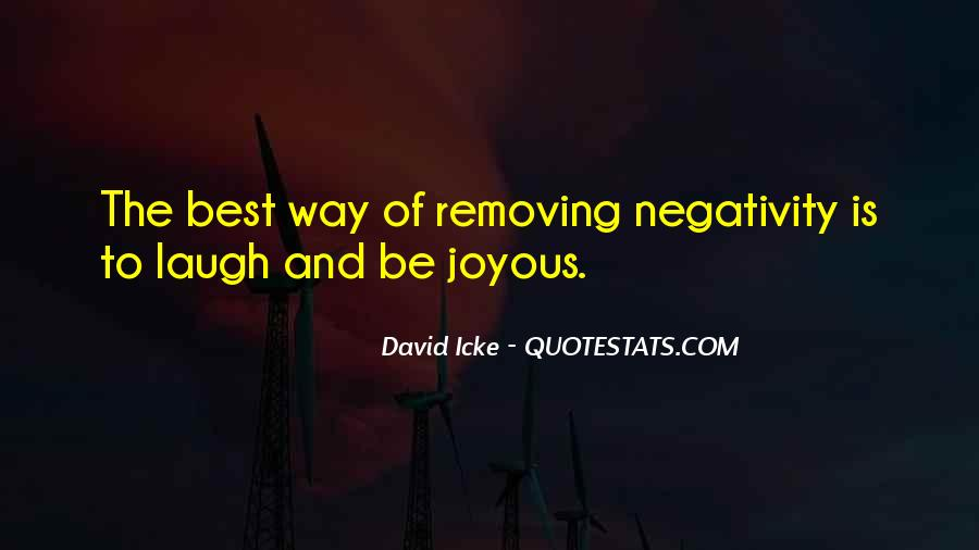 Say No To Negativity Quotes #63236