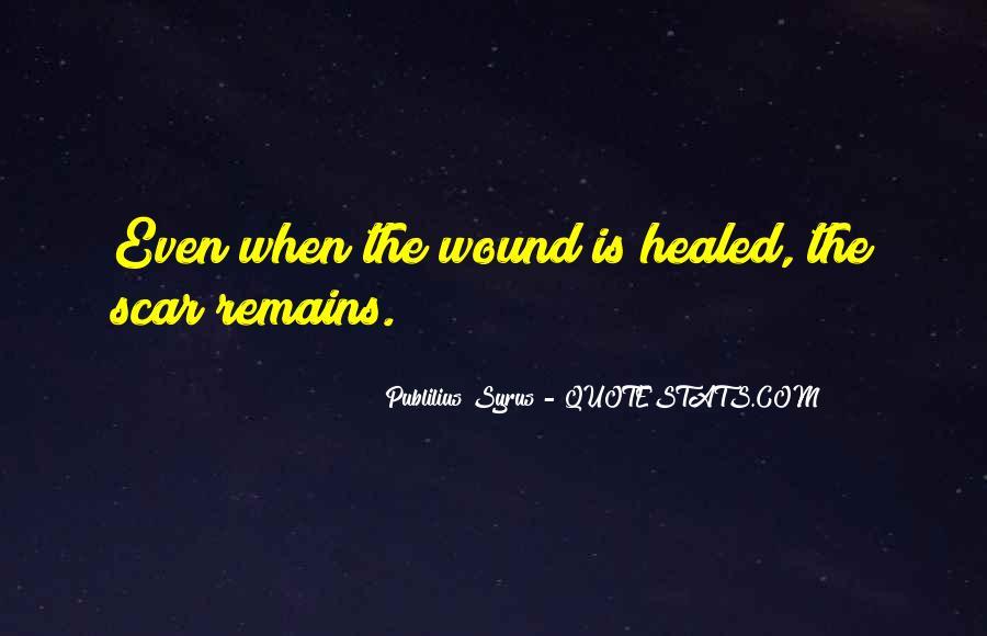 Scar Quotes #254437