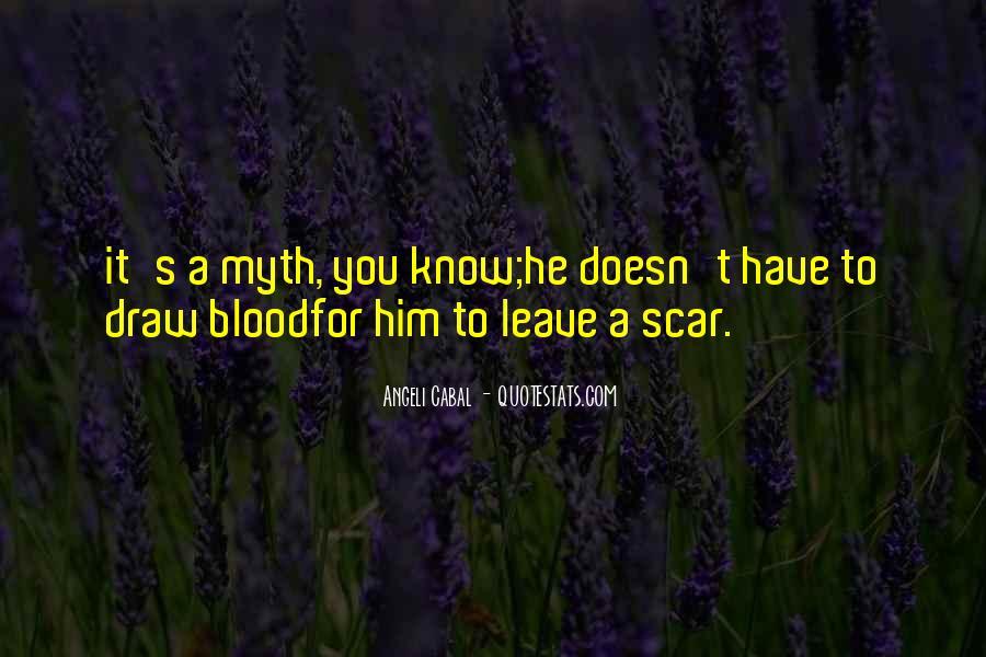 Scar Quotes #285219