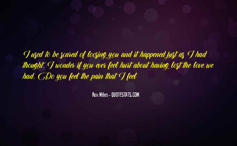 Scared Love Quotes #182461