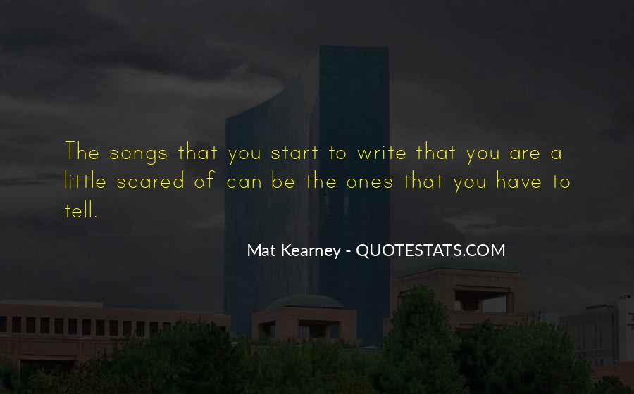 Scared To Start Over Quotes #1469008