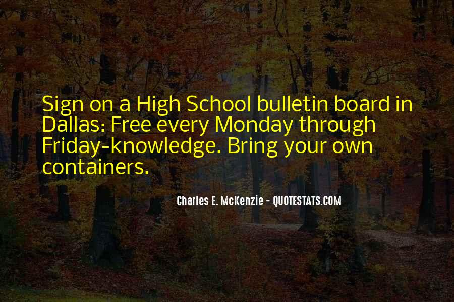 School Bulletin Quotes #1174443