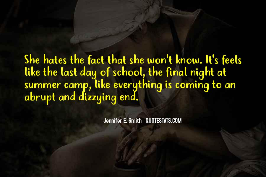 School Camp Quotes #834953