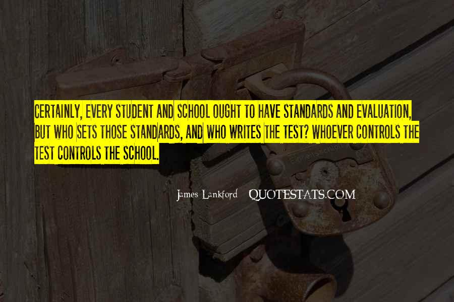 School Self Evaluation Quotes #106497