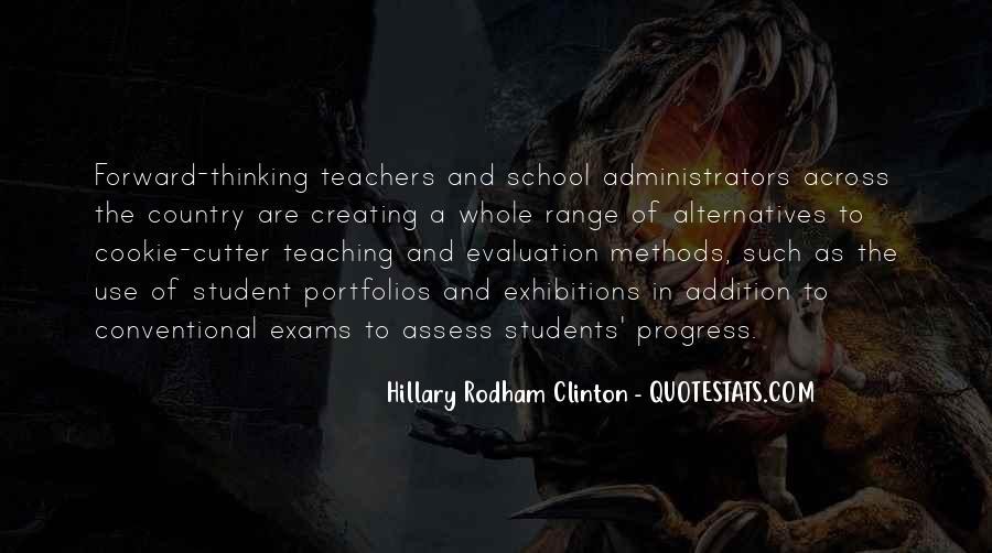 School Self Evaluation Quotes #544346