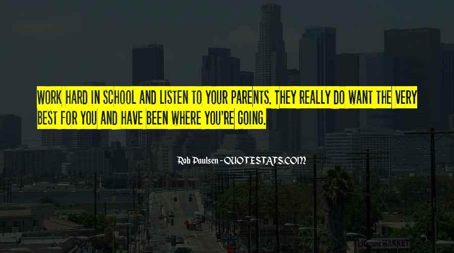 School Work Hard Quotes #695784