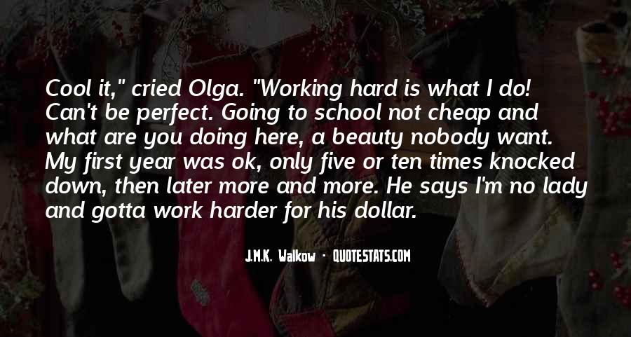 School Work Hard Quotes #93647