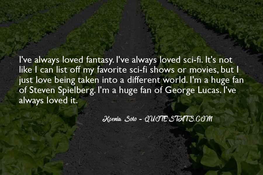 Sci Fi Love Quotes #478528