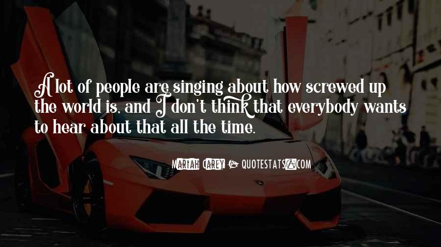 Screwed Up World Quotes #807472