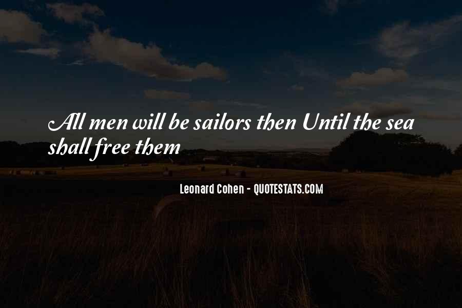Sea And Sailor Quotes #474766
