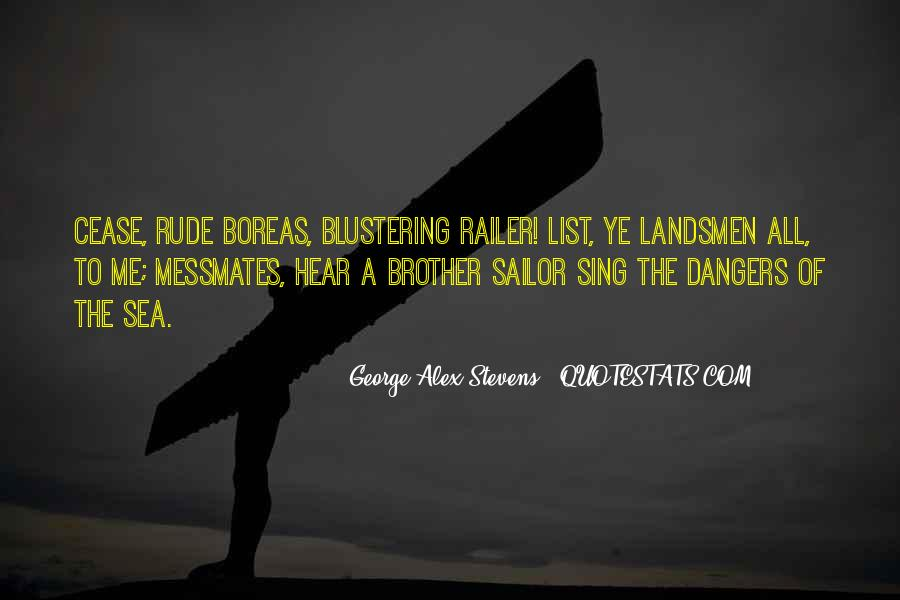 Sea And Sailor Quotes #8619