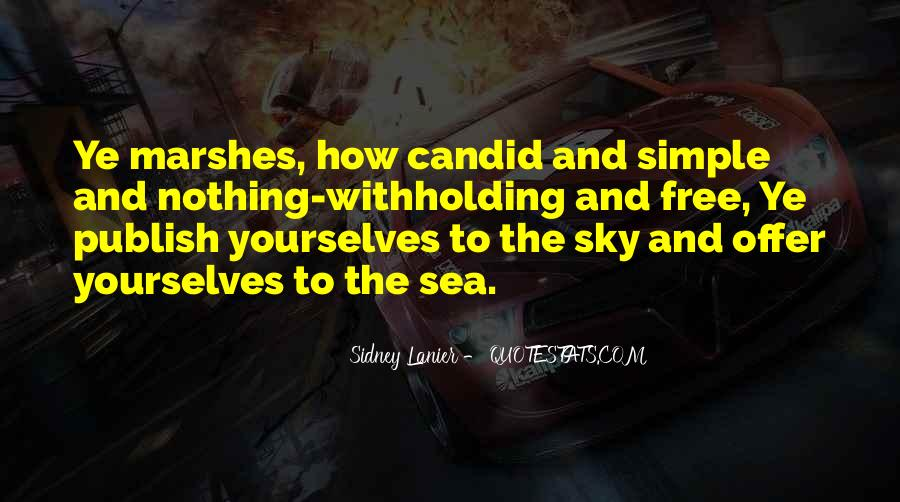Sea And Sky Quotes #460768
