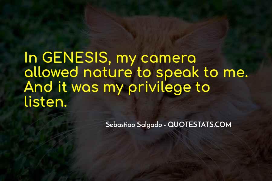 Sebastiao Salgado Genesis Quotes #1071516