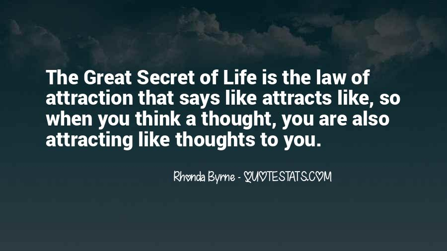 Secret Law Of Attraction Quotes #1241077