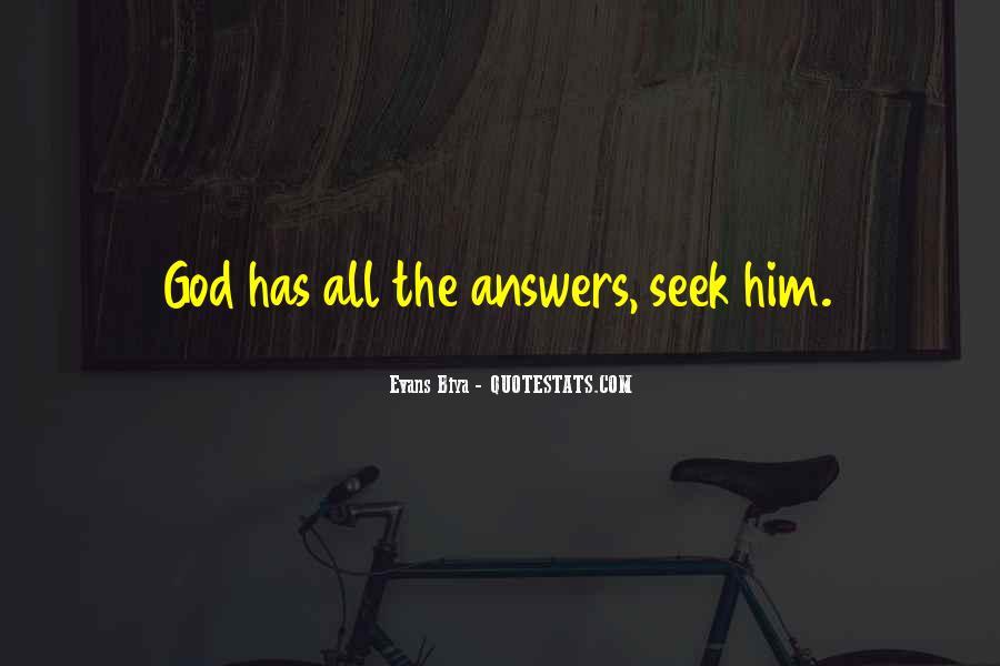 Seek God Quotes #125806