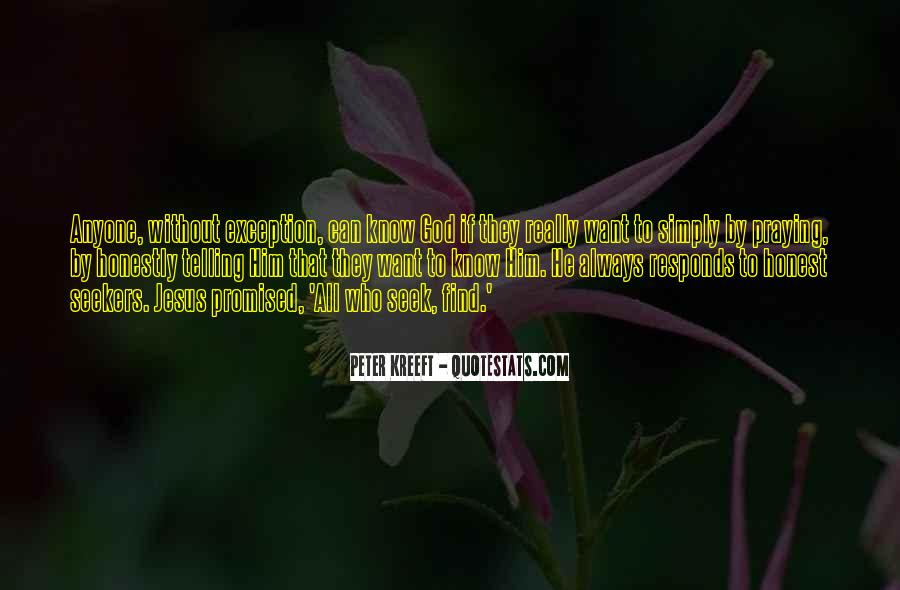 Seek God Quotes #12922