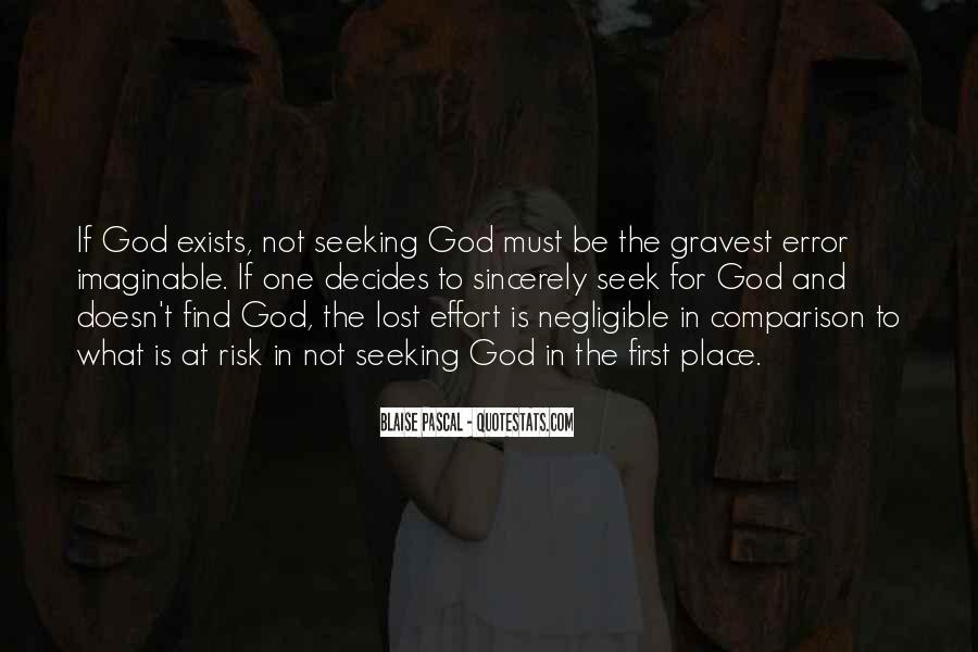 Seek God Quotes #205049