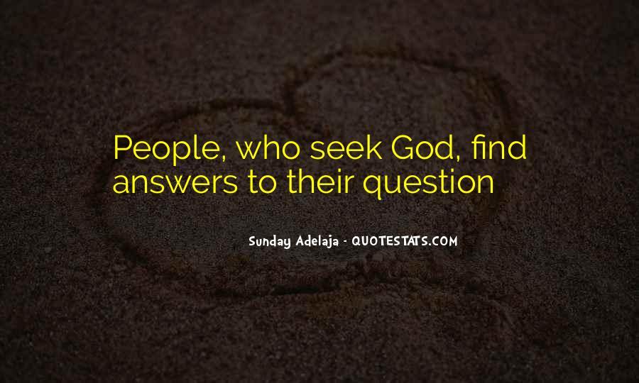 Seek God Quotes #246270