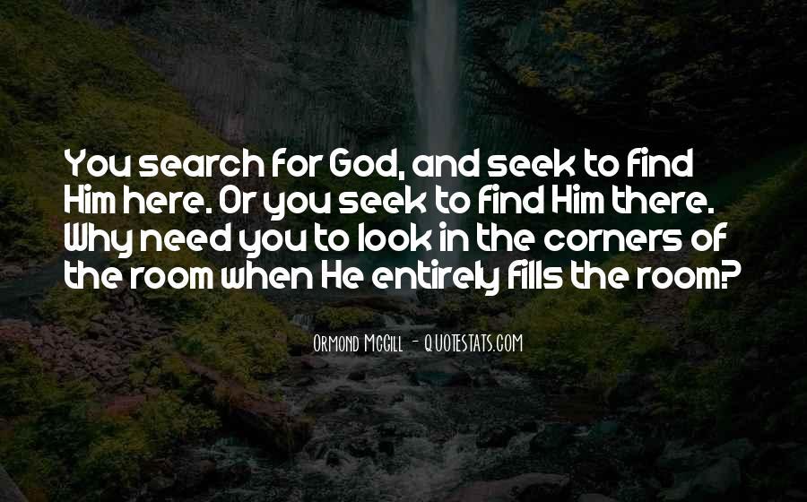 Seek God Quotes #255045