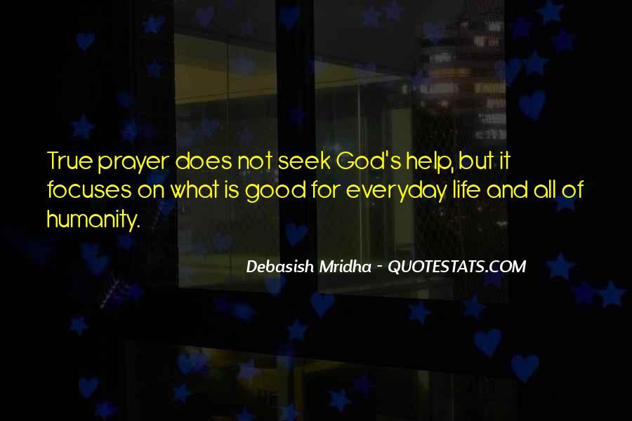 Seek God Quotes #37904