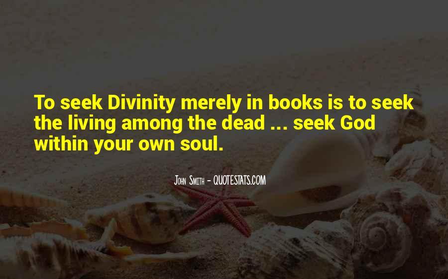 Seek God Quotes #85098