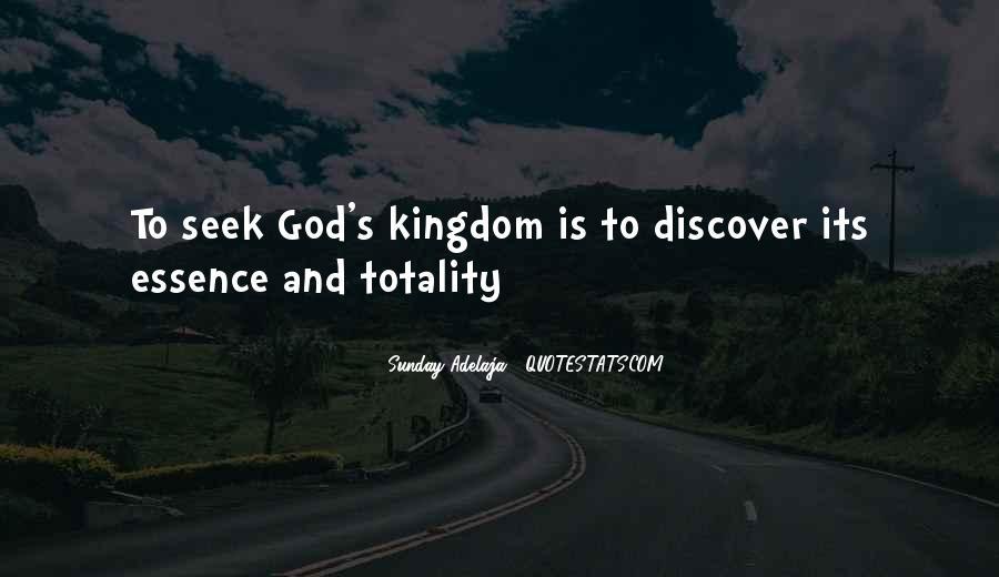 Seek God Quotes #86433
