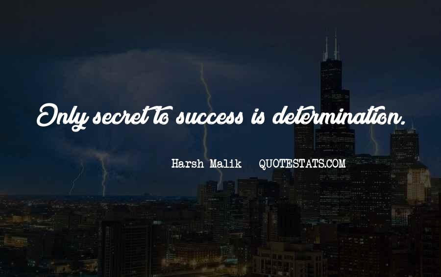 Self Determination And Success Quotes #101847