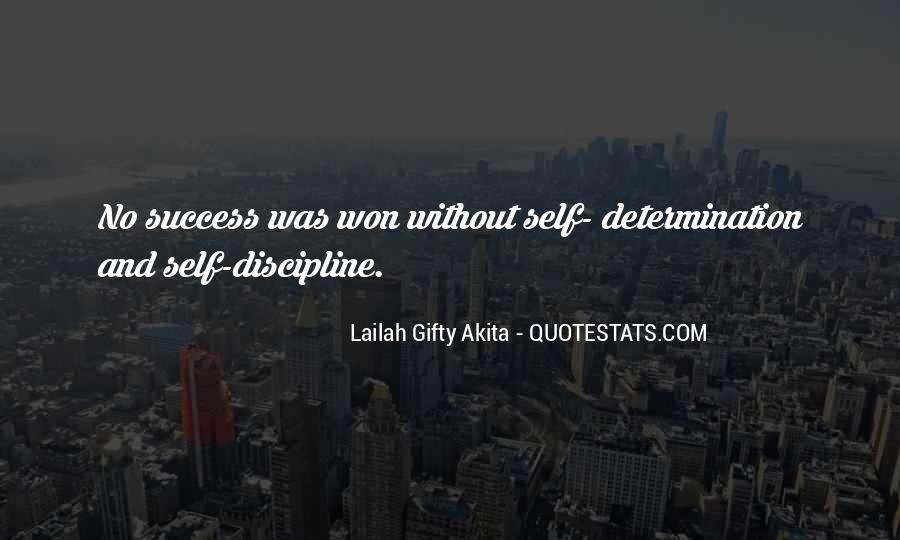 Self Determination And Success Quotes #1159617