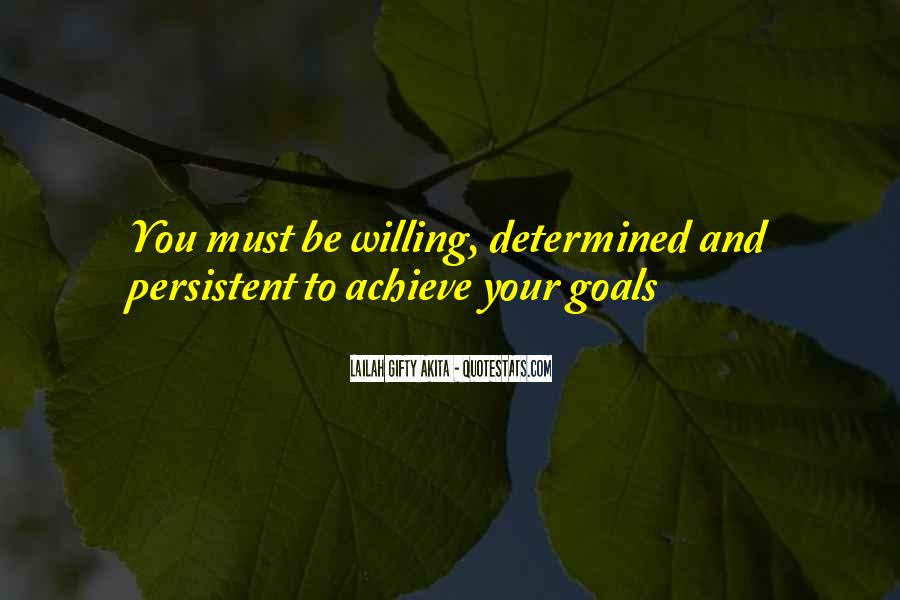 Self Determination And Success Quotes #1518334
