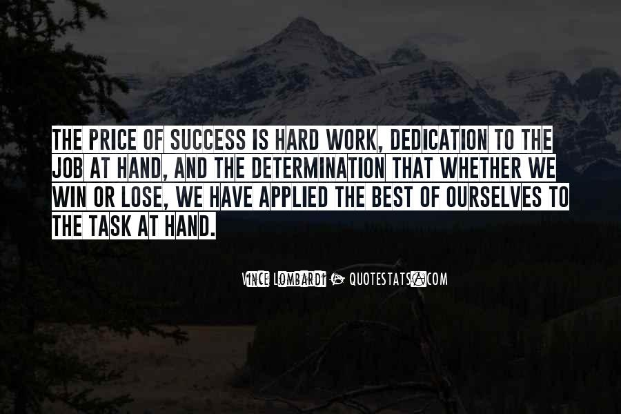 Self Determination And Success Quotes #92119