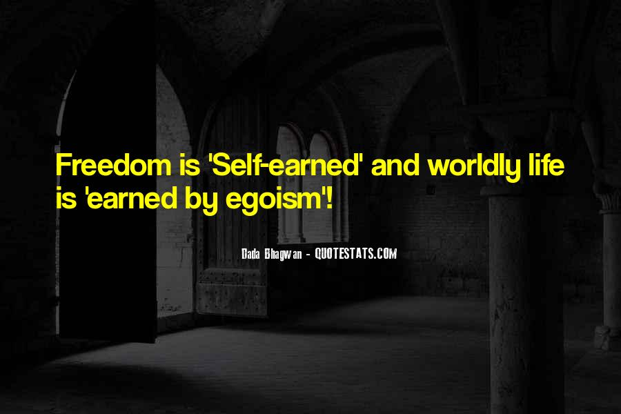 Self Earned Quotes #1803583