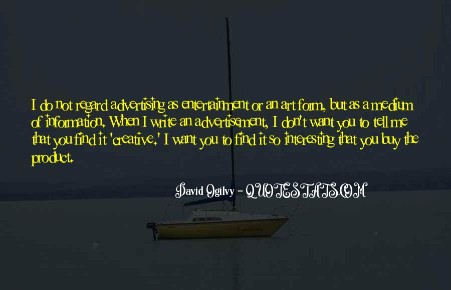 Quotes About Advertising Ogilvy #1851534