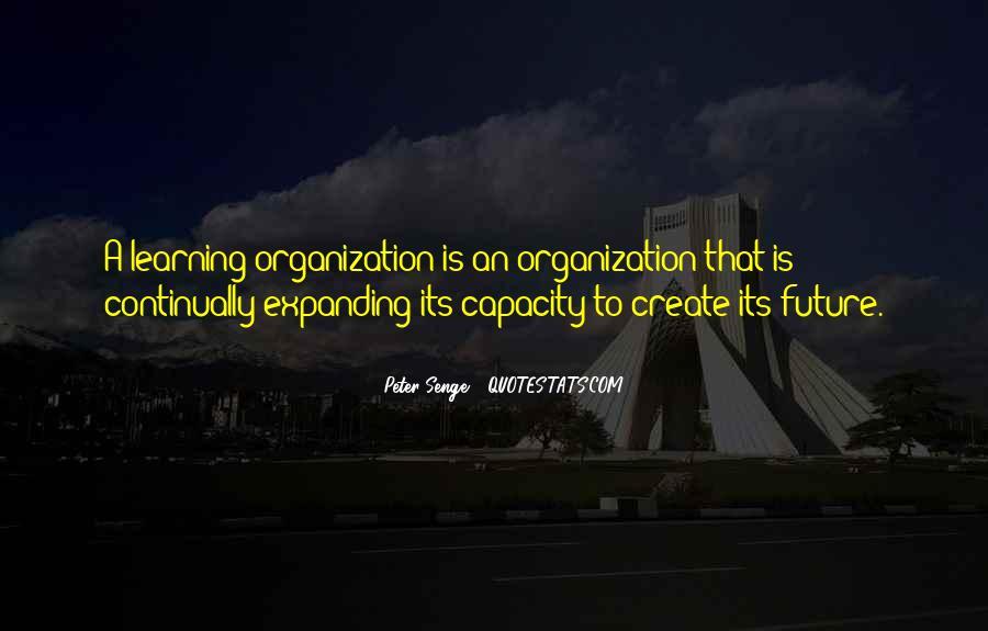 Senge Learning Organization Quotes #1111573