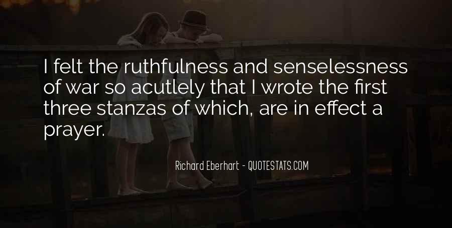 Senselessness Of War Quotes #1214047