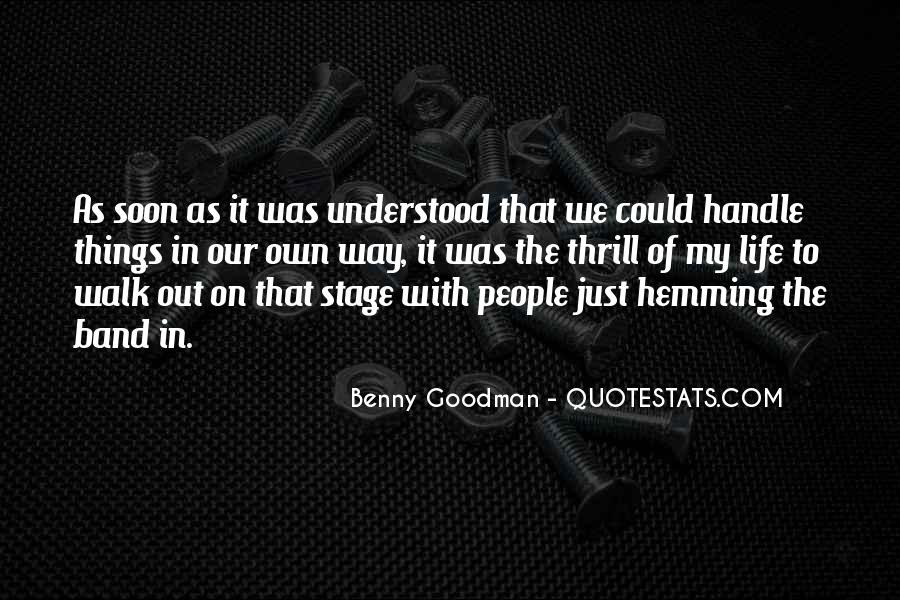 Quotes About Benny Goodman #1807013