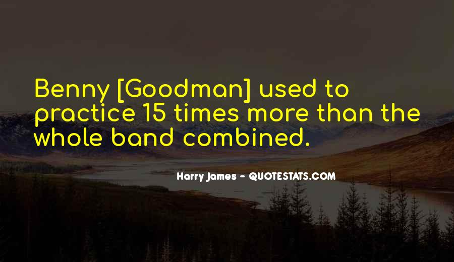 Quotes About Benny Goodman #1823560