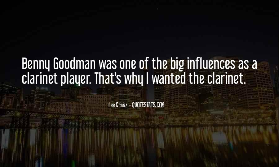 Quotes About Benny Goodman #185805