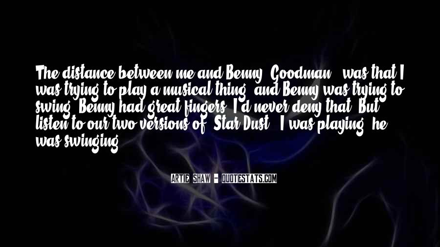 Quotes About Benny Goodman #291631