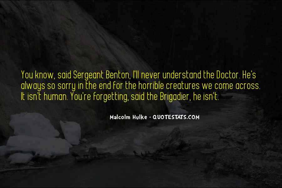Sergeant Benton Quotes #46873