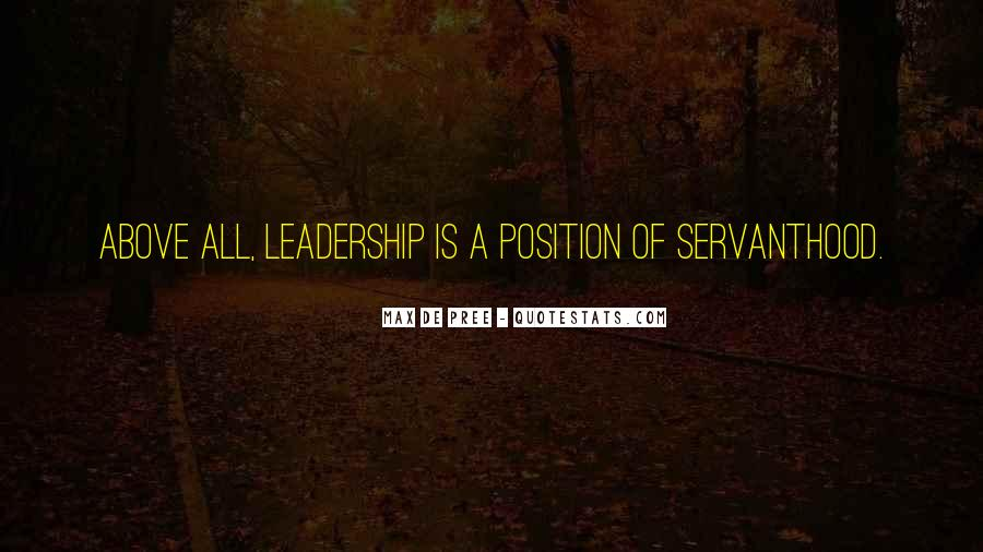 Servanthood Leadership Quotes #150108