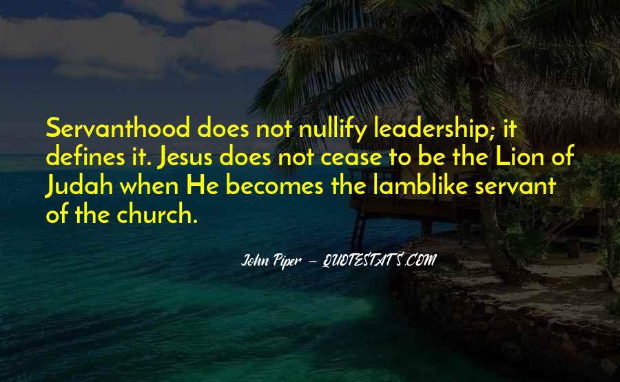 Servanthood Leadership Quotes #1792728