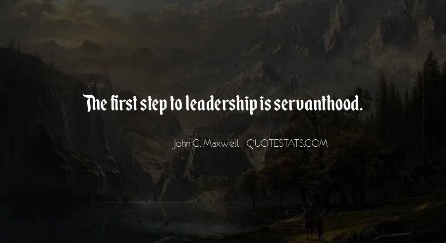 Servanthood Leadership Quotes #887567