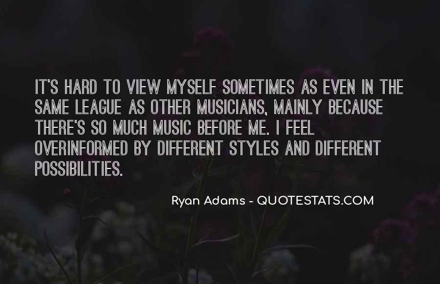 Quotes About Ryan Adams #145339