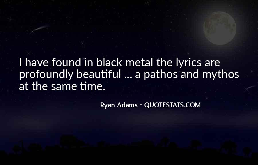 Quotes About Ryan Adams #1542067