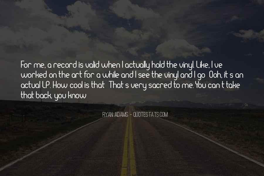 Quotes About Ryan Adams #348597