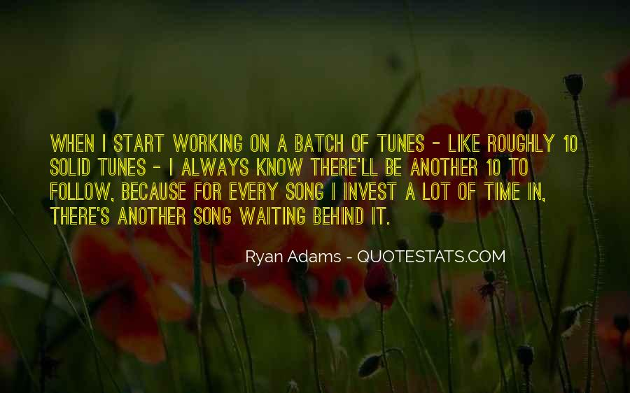 Quotes About Ryan Adams #679970