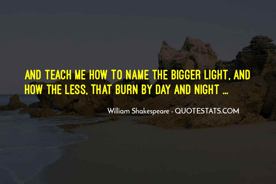 Shakespeare Day And Night Quotes #1842417