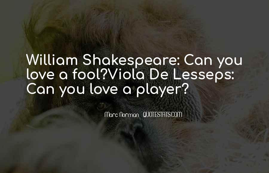 Shakespeare Fool Love Quotes #1609546