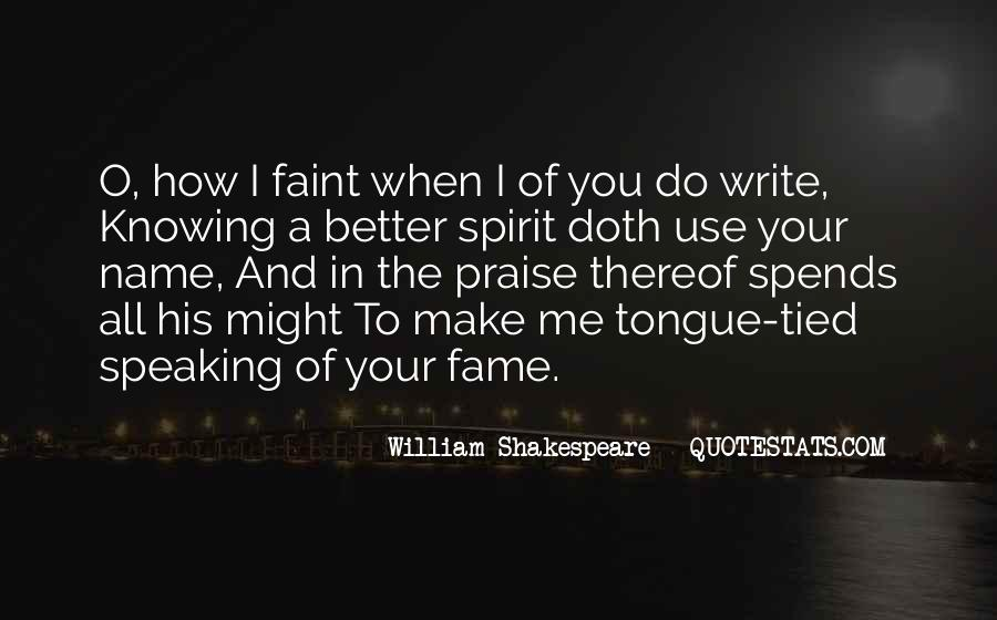 Shakespeare On Writing Quotes #1419269
